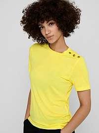 Jacqueline de Yong žlté dámske tričko London