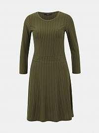 Kaki pruhované šaty ONLY