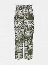 Kaki vzorované nohavice ONLY Augustina