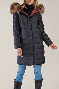 Kara čierny páperový kabát Olaria