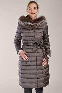 Kara metalicky hnedý prešívaný zimný kabát