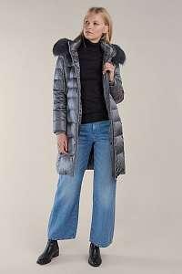 Kara sivé zimné kabát