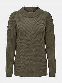 Khaki sveter Jacqueline de Yong Zofry
