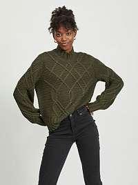 Khaki sveter so stojačikom .OBJECT