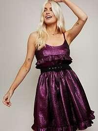 Little Mistress fialové šaty
