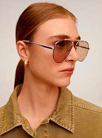 Mango béžové slnečné okuliare Maddy