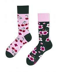 Many Mornings farebné ponožky Cherry Blossom