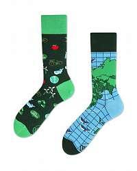 Many Mornings zelené ponožky Save The Planet