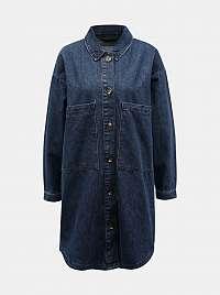 Modrá dlhá džínsová košeľa Jacqueline de Yong
