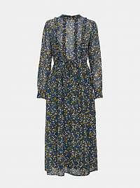 Modré kvetované maxišaty Jacqueline de Yong