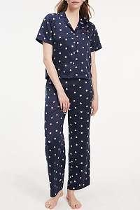 modré pyžamo Woven Set SS Print