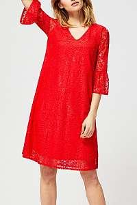 Moodo červené čipkované šaty s volánmi  - XL