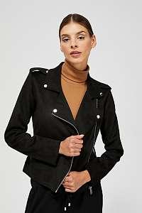 Moodo čierna koženková bunda