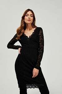 Moodo čierne šaty s čipkou