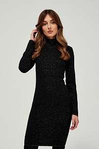 Moodo čierne trblietavé šaty