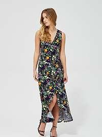 Moodo farebné kvetované maxi šaty