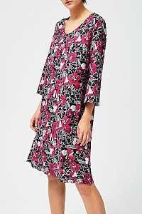 Moodo farebné šaty s tropickými motívmi - XL