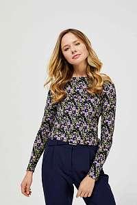 Moodo farebné tričko s květinovým potiskem