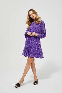 Moodo fialové šaty s drobným vzorem