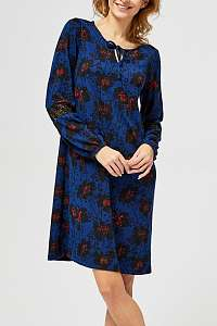 Moodo modré šaty so zaväzovaním  - XXL