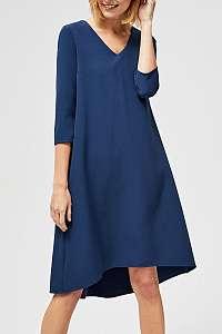 Moodo tmavo modré šaty s trojštvrťovým rukávom  - XL