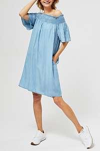 Moodo svetlo modré denimové šaty na ramená - XL