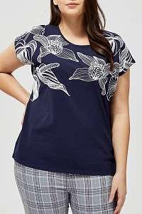 Moodo modré tričko s potlačou