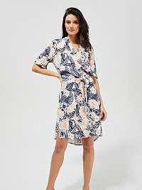 Moodo modro-krémové kvetované šaty