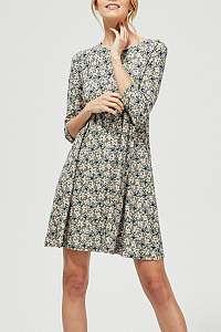Moodo olivové šaty s kvetinami