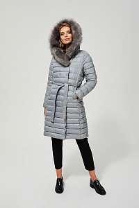 Moodo sivé zimné kabát