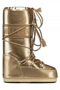 Moon Boot zlaté zimné topánky Vinil Met Gold