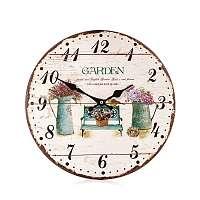 Nástenné drevené hodiny Provance