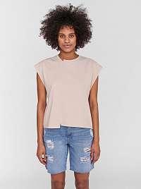Noisy May béžové dámske tričko Daphni