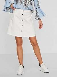 Noisy May biele dámska sukňa Sunny