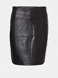 Noisy May čierne dámska po kolená sukňa Lissy