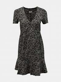 Noisy May čierne šaty so vzormi