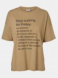 Noisy May hnedé dámske tričko Ida