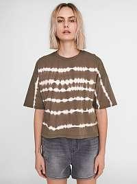 Noisy May khaki dámske tričko Buster