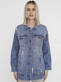 Noisy May modrá džínsová bunda