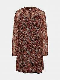 Noisy May oranžové šaty so vzormi