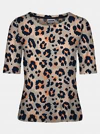Noisy May sivé tričko Sally s farebnými motívmi
