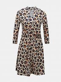 Noisy May smotanové/krémové šaty so vzormi