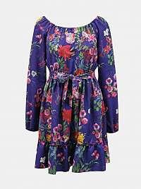 Numoco fialové kvetované šaty