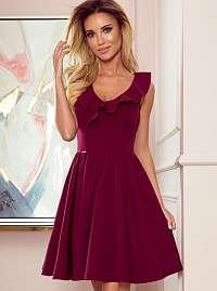 Numoco vínové/bordové šaty