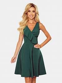 Numoco zelené spoločenské šaty