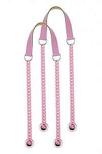 O bag ružové retiazkové rúčky Pink