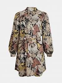 .OBJECT béžové voľné šaty so vzormi