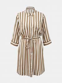 Only béžové košeľové šaty Tamari