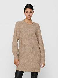 Only béžové svetrové šaty