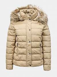 Only béžové zimné bunda Luna